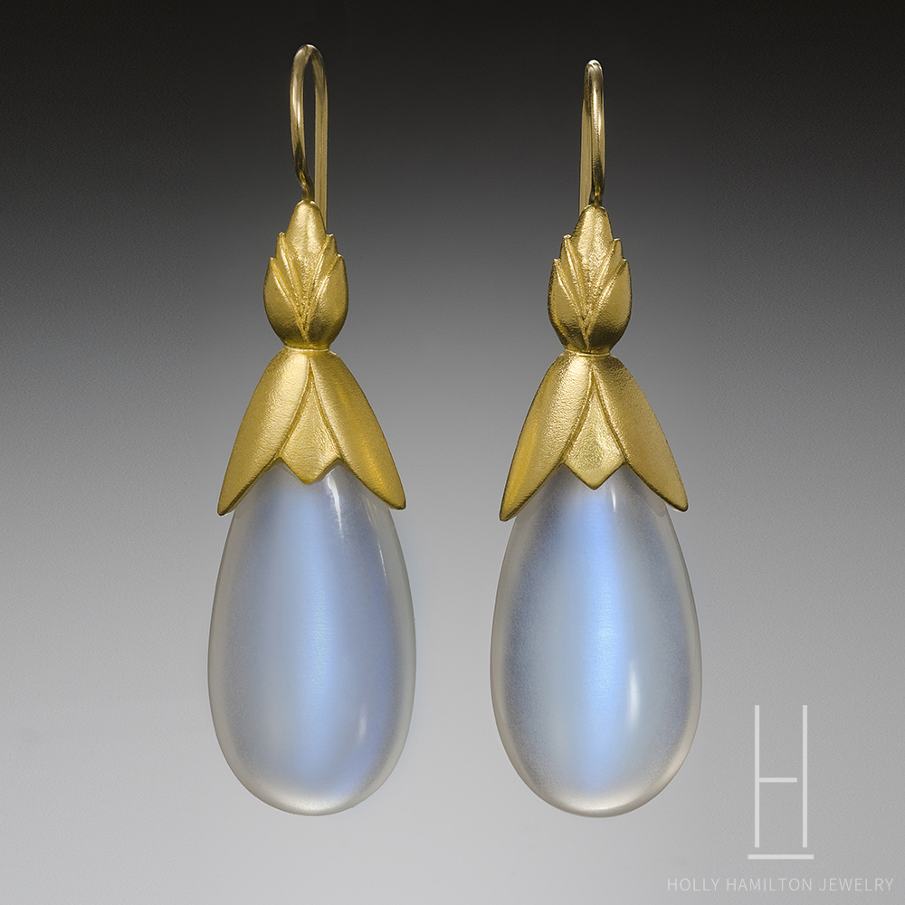 Fresh Moonstone Drop Earrings - Holly Hamilton Jewelry VI66