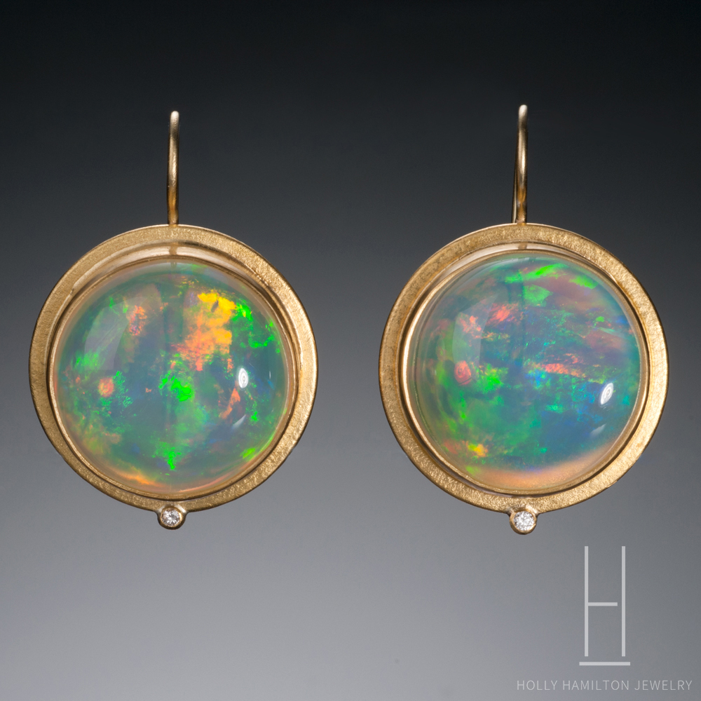 Holly Hamilton Ethiopian Opal Earrings Copy
